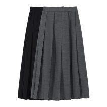 skirt Spring 2021 Average size Grey, black, brown longuette Sweet High waist A-line skirt Solid color Type A 18-24 years old 31% (inclusive) - 50% (inclusive) Wool other fold