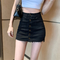 skirt Summer 2020 S M L Black and white Short skirt commute High waist skirt Solid color Type A 18-24 years old More than 95% other Sunyaloo / Xingyi Road other Button Korean version Other 100% Pure e-commerce (online only)