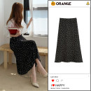 skirt Summer 2020 S,M,L,XL White, yellow, black Mid length dress Versatile High waist other Dot Type A 18-24 years old 30% and below other polyester fiber printing