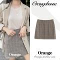 skirt Spring 2020 S,M,L,XL Apricot Short skirt Versatile High waist A-line skirt lattice Type A 18-24 years old zipper