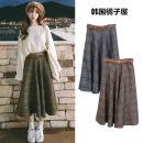 skirt Winter 2017 S,M,L,XL Grey, brown Mid length dress commute High waist other lattice Type A 18-24 years old 30% and below other Other / other other Asymmetric, bandage Korean version