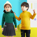 T-shirt Bei's Poetry 80cm 90cm 100cm 110cm 120cm 130cm 140cm 150cm neutral spring and autumn Long sleeves High collar Korean version There are models in the real shooting cotton Solid color Cotton 95% polyurethane elastic fiber (spandex) 5% High collar Class A Winter of 2019 Chinese Mainland