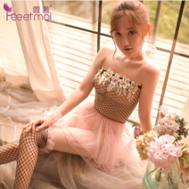 Nightdress Fei Mu Average size sexy pajamas youth Polyester (polyester) More than 95% Composite fabric 200g and below