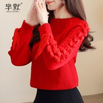 sweater Winter of 2019 S,M,L,XL Red, blue other 95% and above Other / other bow