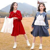 Dress female Youmi house 120cm,130cm,140cm,150cm,160cm,170cm Other 100% winter lady Long sleeves Solid color cotton A-line skirt Class C Five, six, seven, eight, nine, ten, eleven, twelve, thirteen, fourteen Chinese Mainland Zhejiang Province Huzhou City