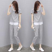 Fashion suit Summer of 2019 S,M,L,XL,XXL,XXXL grey
