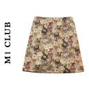 skirt Spring 2021 M,L,XL,2XL,3XL,4XL Bear skirt Short skirt commute Natural waist A-line skirt Cartoon animation Type A 25-29 years old Korean version