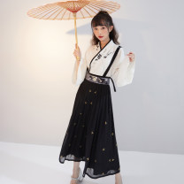 National costume / stage costume Spring 2021 Shirt, skirt, shirt (2nd batch), skirt (2nd batch), shirt (3rd batch), skirt (3rd batch) XS,S,M,L,XL SGF112014 More than thirteen polyester fiber 96% and above