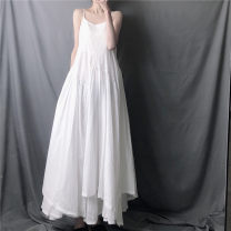Dress Spring 2020 White, black Average size height 163 or above, weight 1 M2 More than 95% cotton