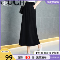 skirt Spring 2021 S M L XL XXL Black - spot black - pre sale longuette commute High waist A-line skirt Solid color Type A 25-29 years old T11Z0488B 71% (inclusive) - 80% (inclusive) She pool cotton pocket Simplicity Cotton 73.4% polyester 20.9% polyurethane elastic fiber (spandex) 5.7%