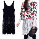 Dress Winter 2017 White black S M L XL XXL Mid length dress singleton  Sleeveless commute Crew neck High waist Solid color Socket Ruffle Skirt straps 18-24 years old Type A Vaylys / weilizi Korean version Ruffle cut-out embroidery hook cut-out stitching strap lace More than 95% Lace polyester fiber