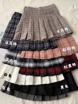 skirt Spring 2021 XS,S,M,L Khaki, dark blue, pink, blue white, red black, pure white, pure black, dark grey Short skirt commute High waist A-line skirt lattice 18-24 years old 81% (inclusive) - 90% (inclusive) Korean version