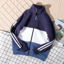 Plain coat male 110cm,120cm,130cm,140cm,150cm,160cm,165cm,170cm,175cm spring and autumn leisure time Zipper shirt No model routine nothing other cotton other Cotton 100% Class B