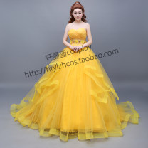 Cosplay women's wear skirt goods in stock Over 8 years old yellow Movies 50. M, s, XL, customized Xuanmansheng Europe and America Lovely wind, Yu Jie fan Bell Princess Dress