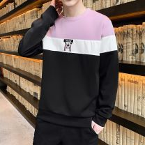 T-shirt Youth fashion routine 165/M 170/L 175/XL 180/XXL 185/XXXL OSACHI Long sleeves Crew neck Self cultivation Other leisure spring Polyester 95% polyurethane elastic fiber (spandex) 5% teenagers routine tide Spring 2020 Alphanumeric No iron treatment Fashion brand Pure e-commerce (online only)