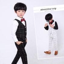 Children's dress Black three piece set, white three piece set male 90cm,100cm,110cm,120cm,130cm,140cm,150cm Other / other full dress A#566097131902 Class B 2, 3, 4, 5, 6, 7, 8, 9, 10, 11, 12, 13, 14 years old Korean version