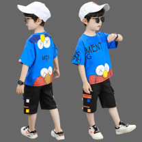suit Other / other White, black, blue, fluorescent green, purple, lake blue, yellow, cowboy blue, white Wukong 100cm,110cm,120cm,130cm,140cm,150cm,160cm male summer Korean version Short sleeve + pants 2 pieces Thin money There are models in the real shooting Socket nothing Cartoon animation cotton