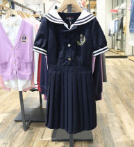 Dress Summer 2021 Navy Blue 155/80A,160/84A,165/88A,170/92A Mid length dress singleton  Long sleeves commute Admiral middle-waisted Solid color zipper A-line skirt routine Others 18-24 years old Type A Buttons, pockets, embroidery 51% (inclusive) - 70% (inclusive) Chiffon other