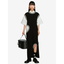 Dress Autumn 2020 S, M longuette singleton  Sleeveless street Crew neck Loose waist stripe Socket other other Others 18-24 years old Type H Studio1till8 hole 81% (inclusive) - 90% (inclusive) knitting other Europe and America