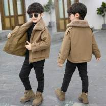 Cotton padded jacket male nothing Cotton 81% - 90% Other / other Khaki male, khaki female, green with yellow, gray with red 90cm,100cm,110cm,120cm,130cm,140cm,150cm,160cm thickening leisure time There are models in the real shooting Solid color cotton Class B Lapel Intradermal bile duct