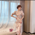 Dress Summer 2021 Short and long S M L XL Mid length dress singleton  Short sleeve commute other High waist Decor zipper One pace skirt puff sleeve Others 18-24 years old Love orchid Retro B69117 More than 95% other other Other 100% Pure e-commerce (online only)