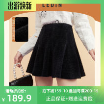 skirt Spring 2021 L,S,M Black (stock) Short skirt Sweet Natural waist 18-24 years old CWGEB1121 More than 95% Leting other solar system