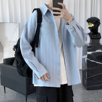 shirt Youth fashion Others S. M, l, XL, 2XL, XS plus small Blue, white, black, dark grey routine Pointed collar (regular) Long sleeves easy Other leisure autumn teenagers Cotton 100% tide 2020 stripe