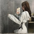 Dress Autumn 2020 S M L XL 2XL Mid length dress singleton  Long sleeves commute Hood High waist Solid color Socket A-line skirt routine Others 18-24 years old Shaxu Korean version 71% (inclusive) - 80% (inclusive) other polyester fiber Polyester 80% other 20% Pure e-commerce (online only)