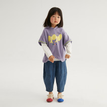 T-shirt Purple [excluding white T-shirt] NNGZ 110cm 120cm 130cm 140cm 150cm 160cm female summer Short sleeve Crew neck leisure time There are models in the real shooting nothing cotton printing Cotton 85% polyethylene terephthalate (polyester) 15% B211D904-1 Class B Summer 2021 Chinese Mainland