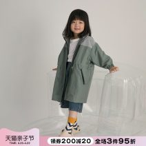 Plain coat NNGZ female 110cm 120cm 130cm 140cm 150cm 160cm 165cm Greyish green spring and autumn leisure time Zipper shirt There are models in the real shooting routine nothing other Polyamide (40%) polyester Class B Spring 2021