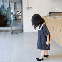 Dress female NNGZ 110cm 120cm 130cm 140cm 150cm 160cm 170cm Cotton 100% summer Korean version Short sleeve other cotton A-line skirt Class B Summer 2020 4 years old, 5 years old, 6 years old, 7 years old, 8 years old, 9 years old, 10 years old, 11 years old, 12 years old, 13 years old, 14 years old