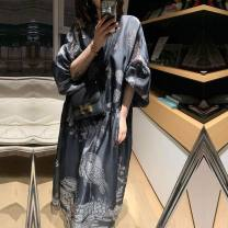 Dress Summer 2021 Picture color S, M Middle-skirt singleton  Long sleeves Type A