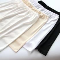 skirt Summer of 2019 One size fits all, short-s (40cm), short-m (41cm), short XL (43cm), Medium-s (50cm) ~%, medium-m (51cm), medium-l (52cm), medium XL (53cm) White, apricot, black, milk white Short skirt Versatile other Solid color 18-24 years old knitting