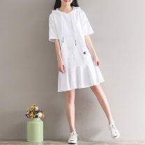Dress Other / other Black, white M,L,XL,XXL other Pure cotton (95% and above)