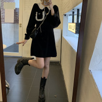Dress Winter 2020 Short 10906, long 10908 Average size Miniskirt Long sleeves Doll Collar routine Type A bow 10906#10908