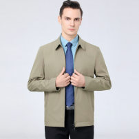 Jacket Other / other other khaki , black , claret , navy blue , Lake blue 170,175,180,185,190,195 thin easy Other leisure spring two thousand one hundred and ninety-eight / j Long sleeves Wear out Lapel Business Casual middle age routine Zipper placket Straight hem No iron treatment Solid color other