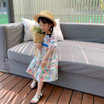 Dress Floral skirt , Plaid skirt female LAN xiaopa 80, 90, qiqichuan, 100, 110, 120, 130, 140, 150 Other 100% summer lady Short sleeve other other other Class B Chinese Mainland Zhejiang Province Hangzhou