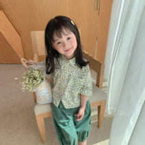 suit LAN xiaopa 12 months, 18 months, 2 years old, 3 years old, 4 years old, 5 years old, 6 years old, 7 years old, 8 years old, 9 years old, 10 years old, 11 years old, 12 years old female summer other leisure time routine 2 pieces Single breasted Broken flower other nothing other 2177012210