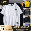 T-shirt Youth fashion White, yellow, dark gray, black, haze blue routine M,L,XL,2XL,3XL LeedDeep Short sleeve Crew neck easy daily summer TX1902 Cotton 100% teenagers routine tide Cotton wool 2021 Solid color Color contrast cotton Brand logo No iron treatment International brands More than 95%
