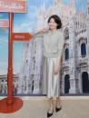 skirt Autumn 2020 S,M,L,XL Green bean paste, warm grey longuette commute High waist A-line skirt Solid color Type A 203Q0014 More than 95% silk