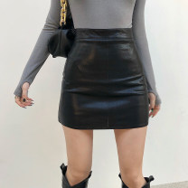 skirt Winter 2020 S,M,L Black, apricot, blue, green Short skirt street High waist skirt Solid color Type H 18-24 years old DLD8920V0J 51% (inclusive) - 70% (inclusive) other polyester fiber Resin fixation Europe and America