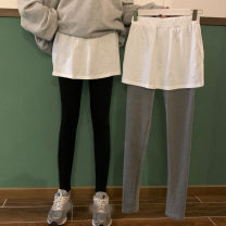 Leggings Autumn 2020 Black regular, gray regular, black hole, gray hole, black embroidery, gray embroidery Average size routine trousers XJ8931# 18-24 years old Other / other other 30% and below