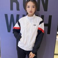 Sports jacket / jacket Erke / hongxingerke male M (adult), l (adult), XL (adult), XXL (adult), XXXL (adult) Zhengbai-004 Autumn 2020 stand collar zipper run Women's running