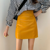 skirt Spring 2020 XXS,XS,S,M,L,XL Yellow, black, blue Short skirt Versatile High waist skirt Solid color Type A 18-24 years old More than 95% other 401g / m ^ 2 (inclusive) - 500g / m ^ 2 (inclusive)