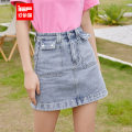 skirt Summer 2021 XS,S,M,L,XL Denim light blue Middle-skirt Versatile High waist Solid color Type A 18-24 years old More than 95% IEF / aiyifu other