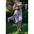 Dress Summer 2021 Purple flower (long skirt with square collar), purple flower (princess skirt with bubble sleeve), purple flower (half skirt with A-line) XS [spot], s [spot], m [spot], l [spot], s [pre-sale end of April], m [pre-sale end of April], l [pre-sale end of April] Mid length dress commute