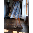 skirt Summer 2021 XS [pre sale at the end of April], s [pre sale at the end of April], m [pre sale at the end of April], l [pre sale at the end of April] Mid length dress commute High waist A-line skirt Decor Type A 25-29 years old More than 95% polyester fiber Retro