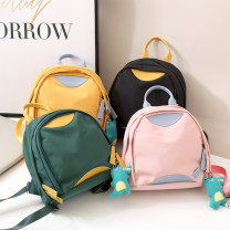 Backpack Nylon  Other / other brand new in zipper leisure time Three Japan and South Korea soft youth no Soft handle Solid color nothing female Water splashing prevention Vertical square Mobile phone bag polyester fiber Color contrast yes Three dimensional bag