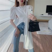 Lace / Chiffon Summer 2021 White black S M L Short sleeve commute Socket singleton  Self cultivation Medium length Crew neck routine 18-24 years old Philenkay Korean version Other 100% Pure e-commerce (online only)