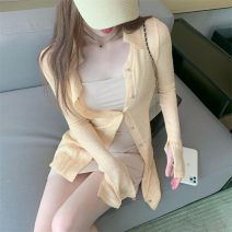 shirt Goose yellow coat with suspender dress S M L Spring 2021 other 96% and above Long sleeves commute Medium length other Socket Solid color 18-24 years old Self cultivation Philenkay Korean version Other 100% Pure e-commerce (online only)